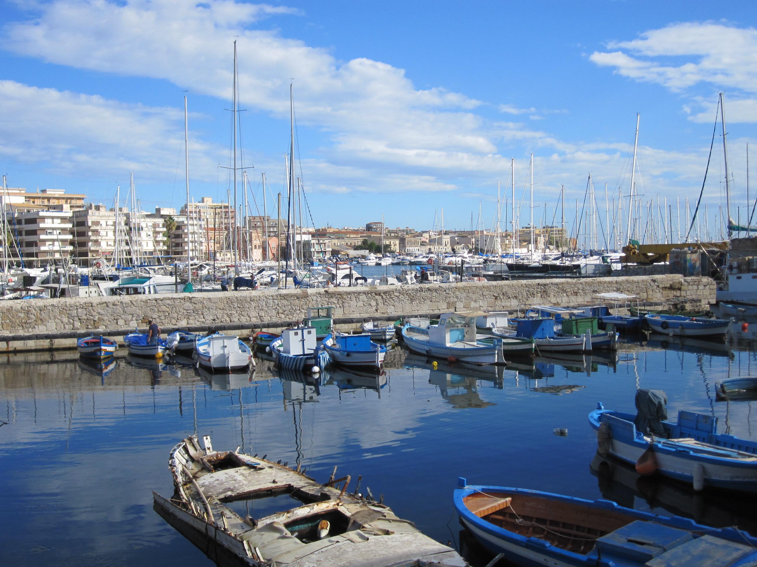 Syracuse harbour Sicily