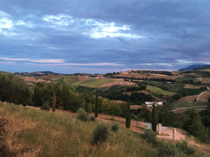Scenery of Le Marche Italy, family summer villa holiday italy