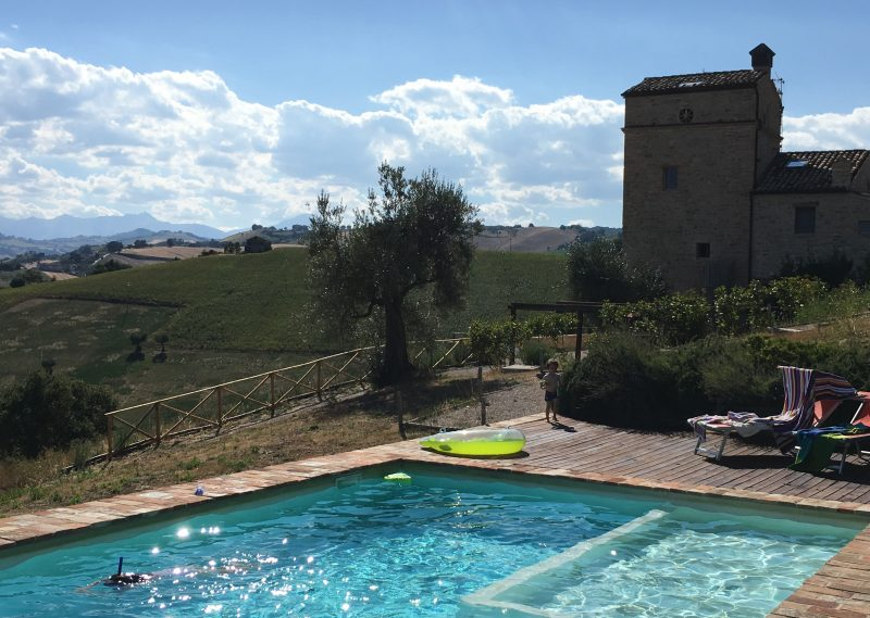 Le Marche villa in Italy, family friendly italy villa with pool