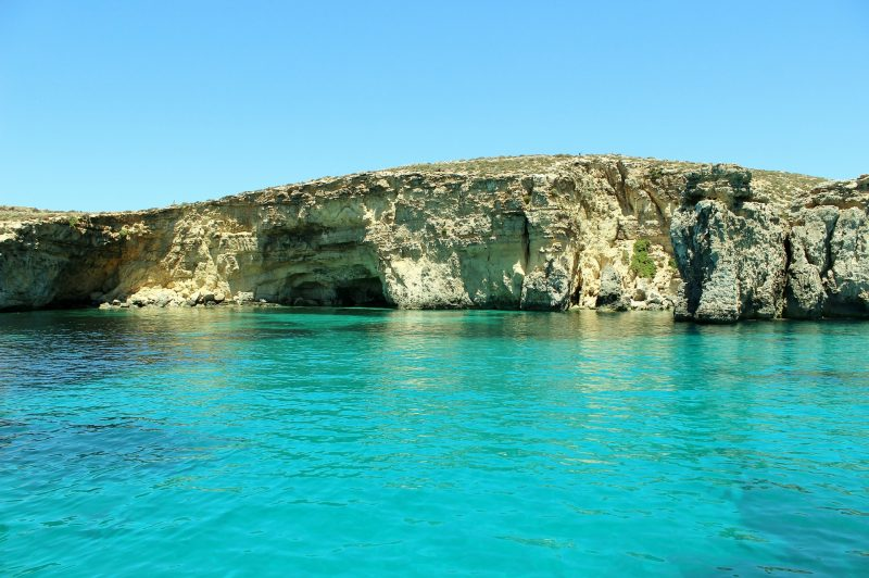 Ideal for boat trips: the coastline of Gozo