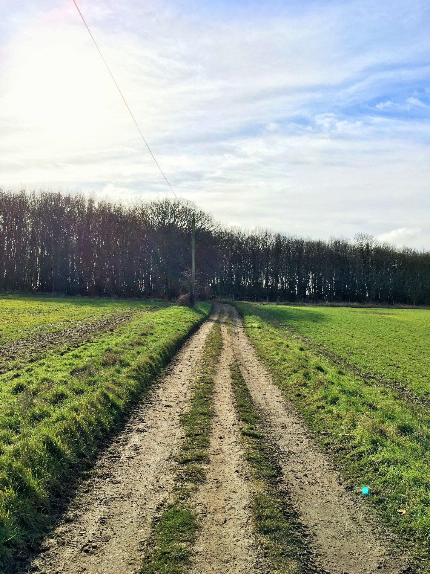 Farm tracks in Watton at Stone