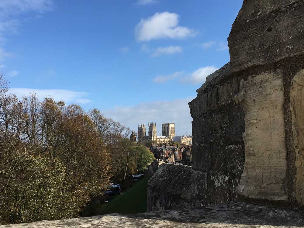 view of york minster from york city walls