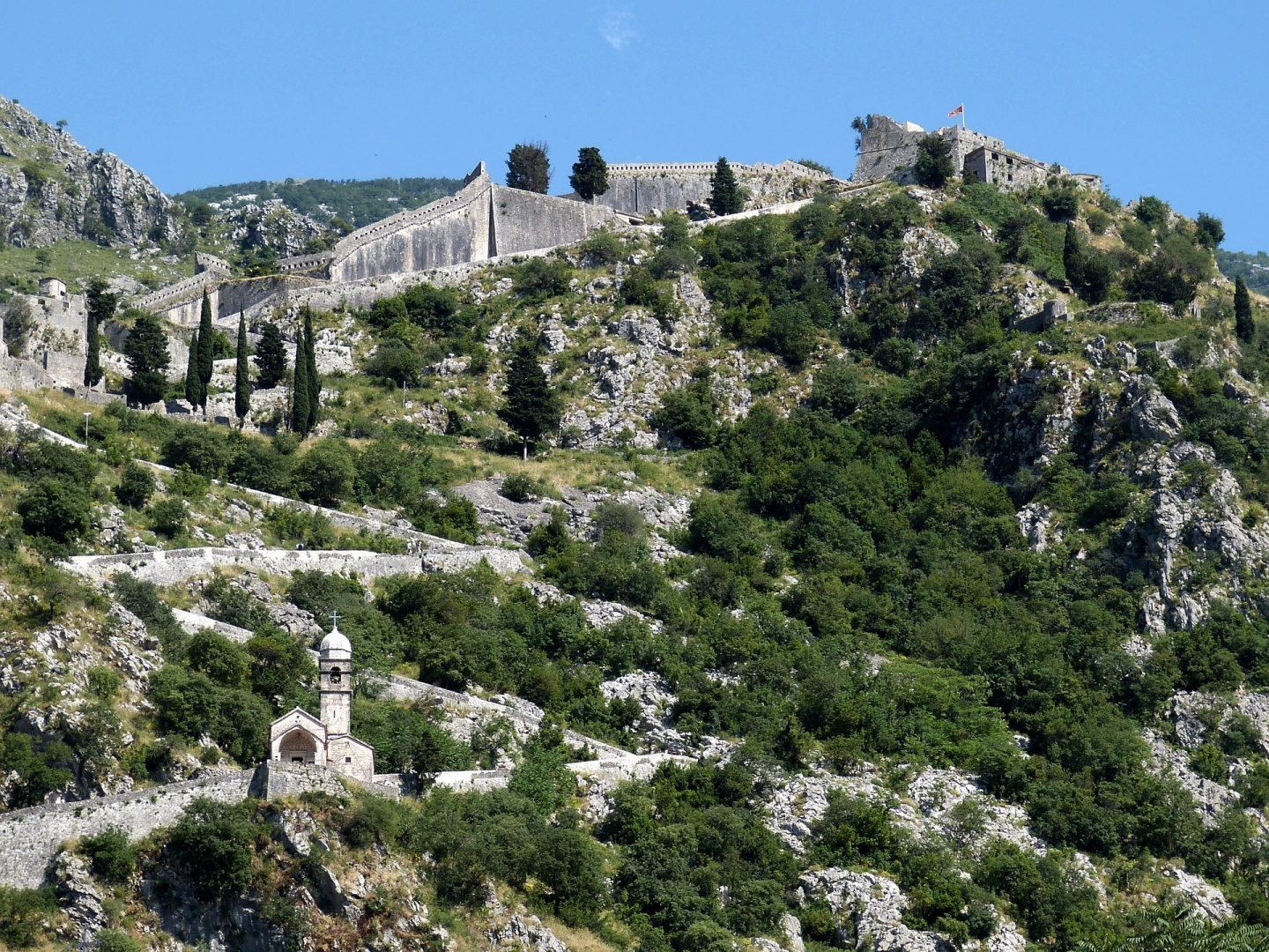 The city walls of Kotor, copyright Falco