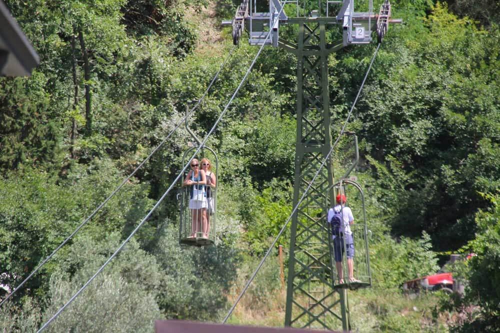 Gubbio cable car in Umbria