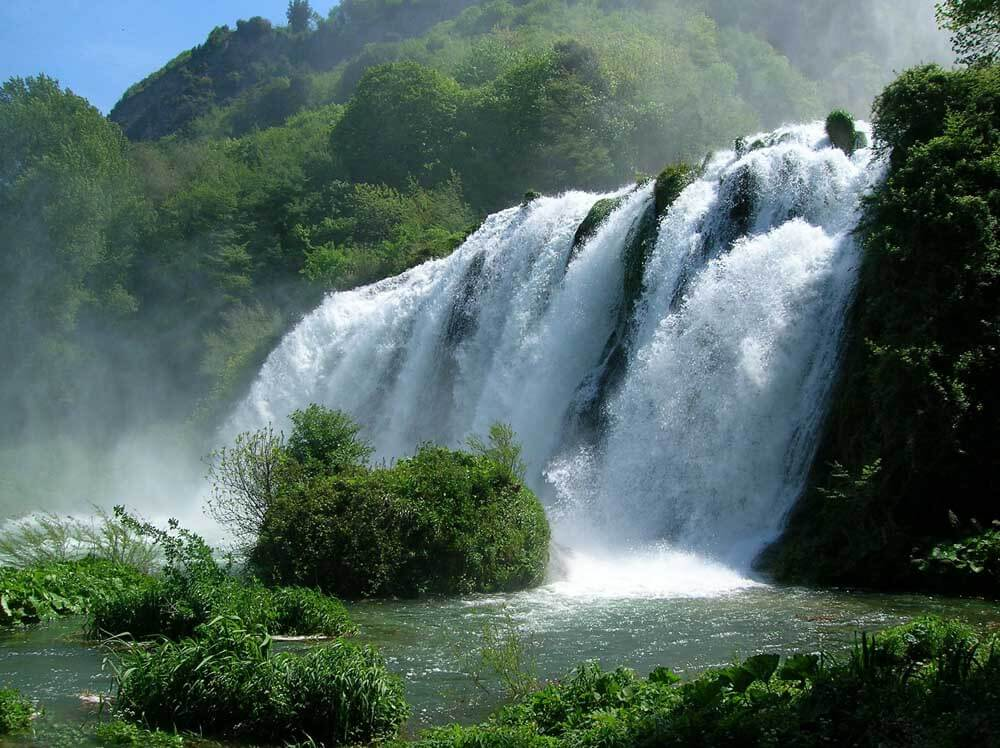 Marmore waterfalls in Umbria Italy