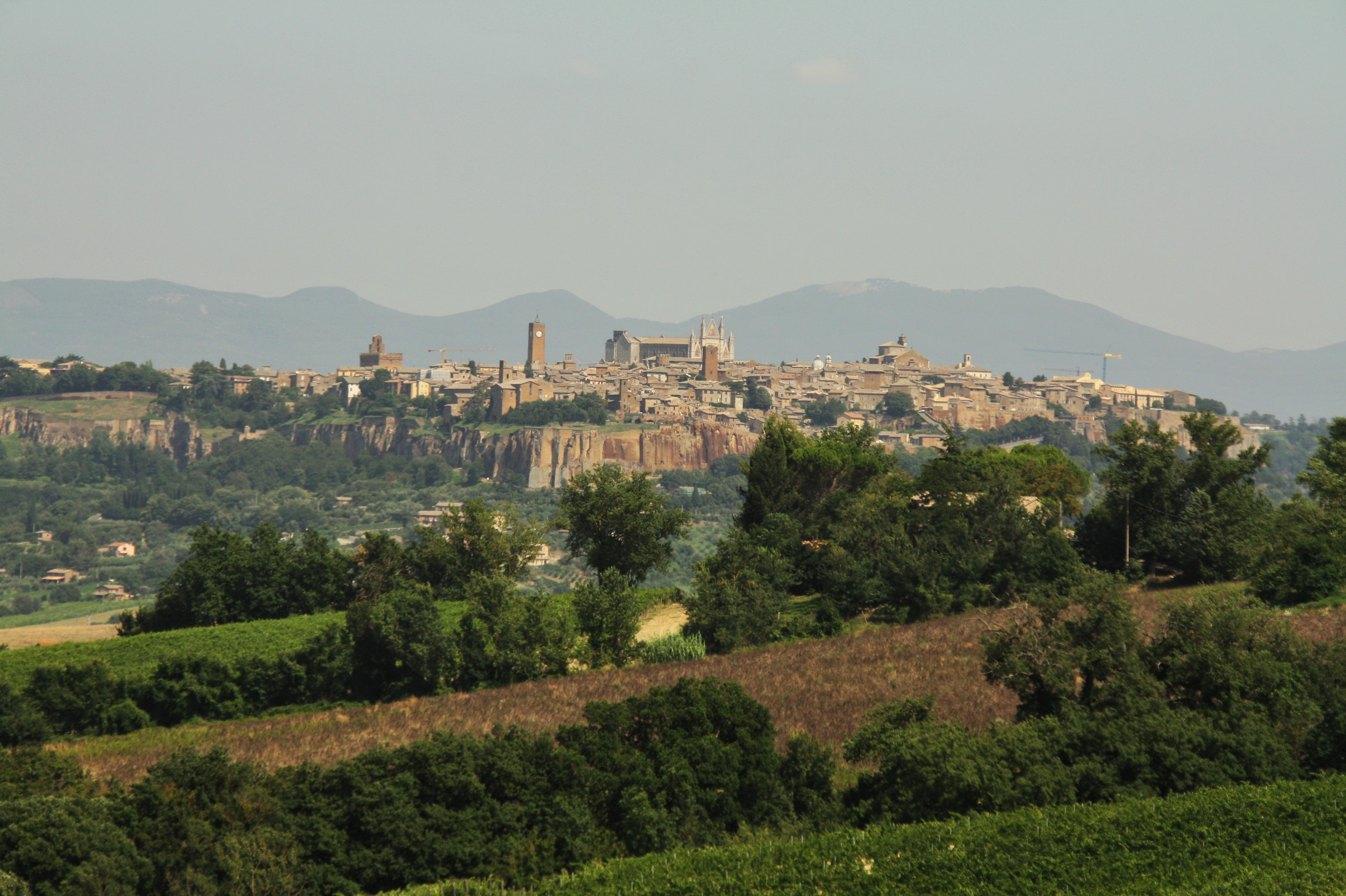 Umbria with kids Orvieto from a distance