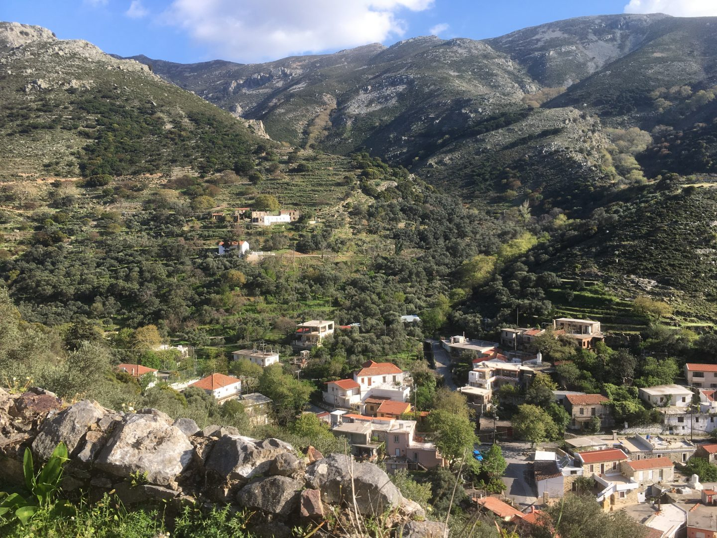 mountain village Crete