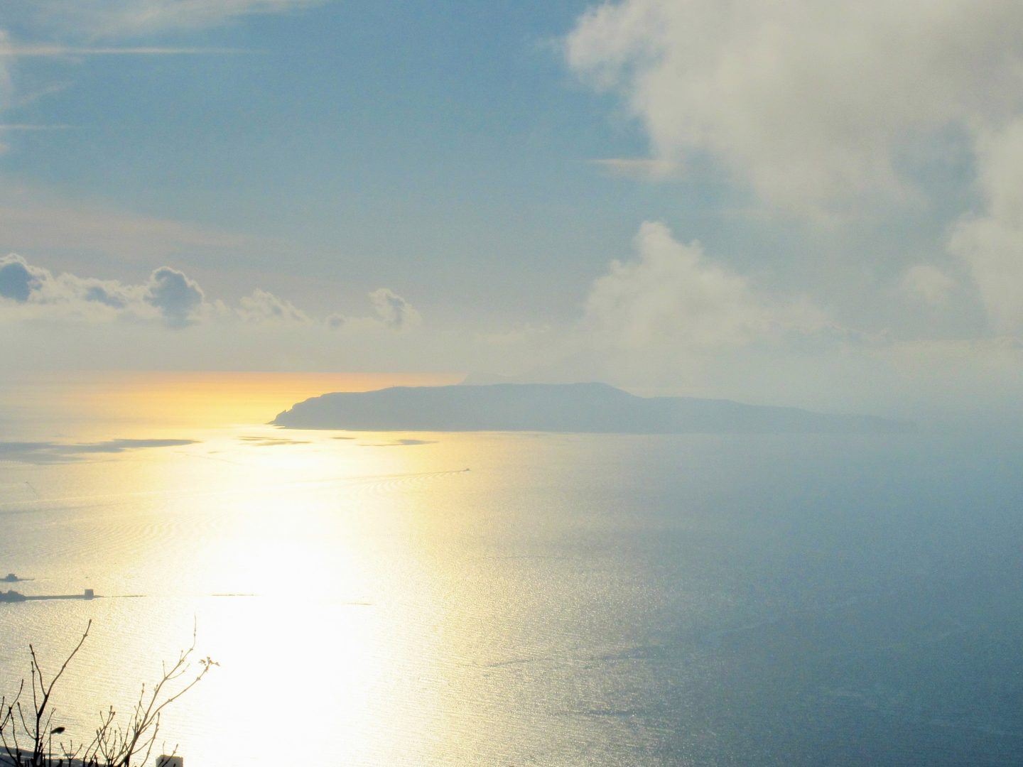 View to the Egadi Islands from Erice, beaches in Sicily