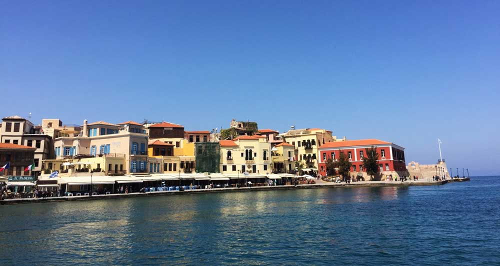 Chania harbour in Crete