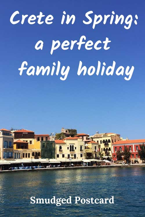 crete with kids in spring