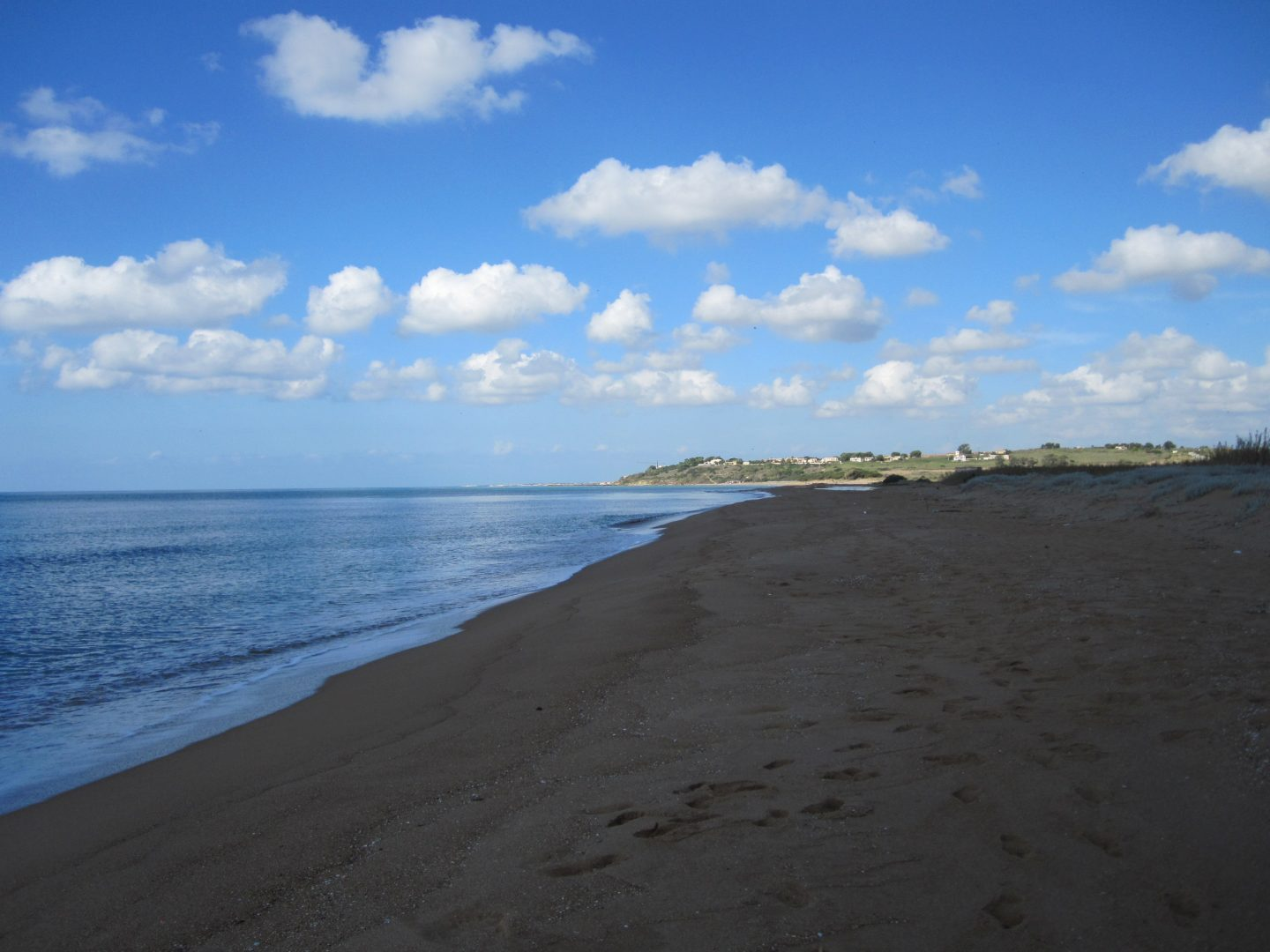 beach near Menfi in south west Sicily, beaches in Sicily