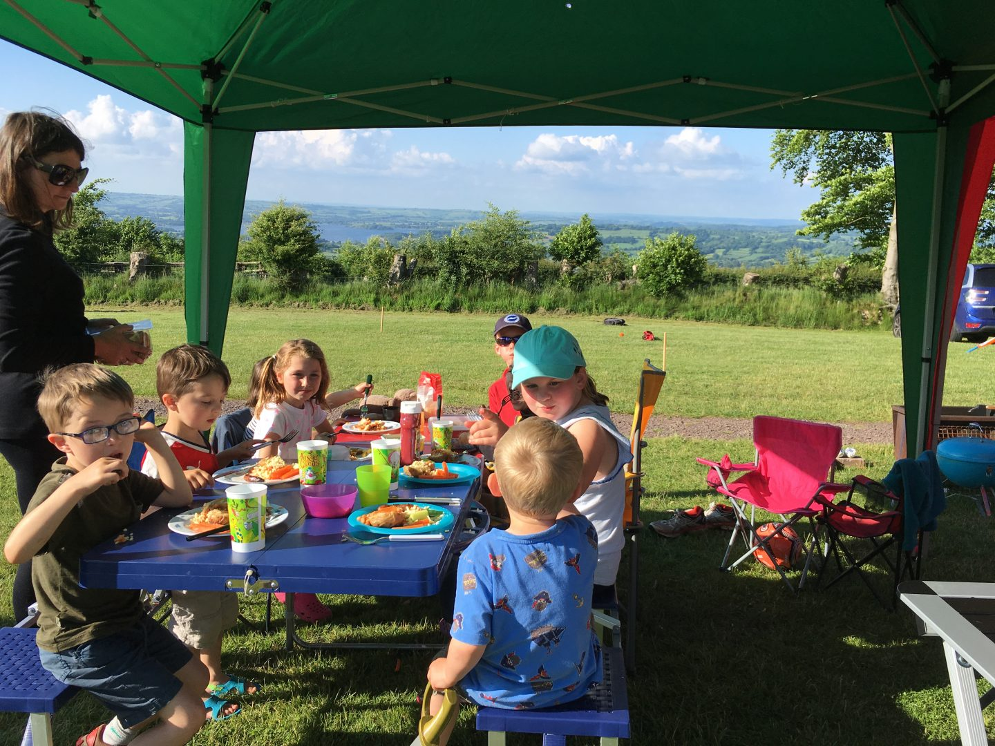Dinner time at Nettwood Farm campsite