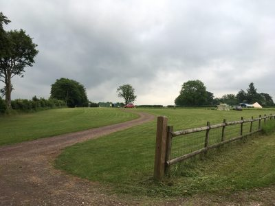 Lake view field at Nettwood Farm campsite