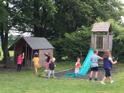 The play area at Nettwood Farm campsite in Somerset