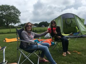 camping at Nettwood campsite