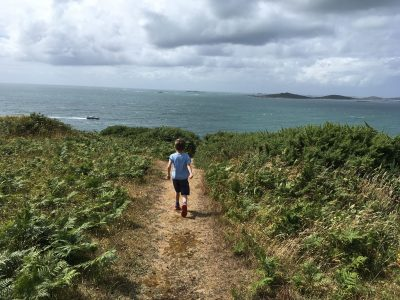Walking along the Garrison, St Mary's isles of scilly