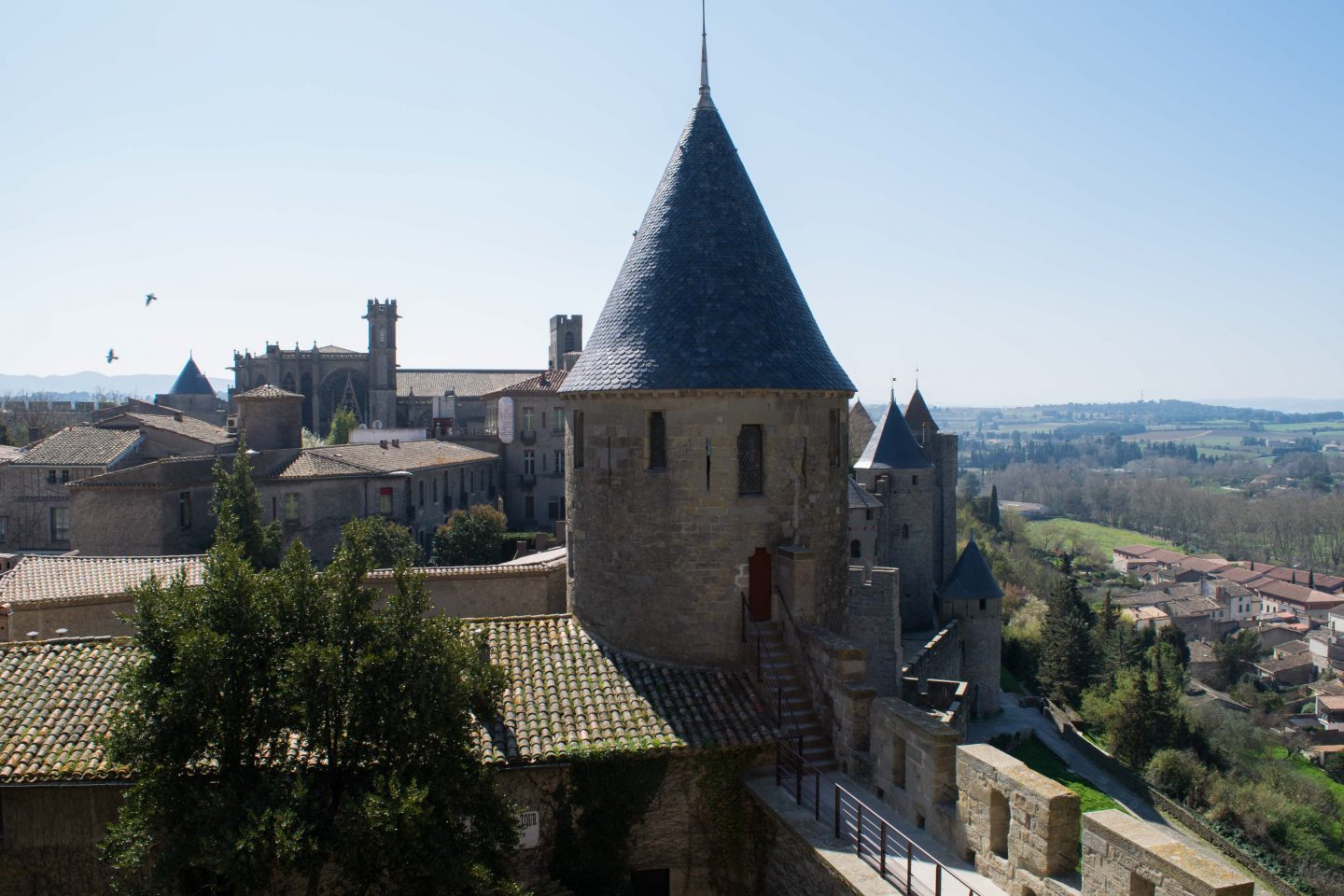 Views from Carcassonne city walls