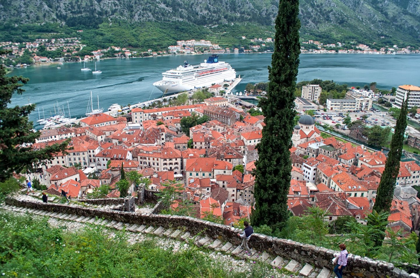 The view from Kotor's city walls, copyright On the Luce