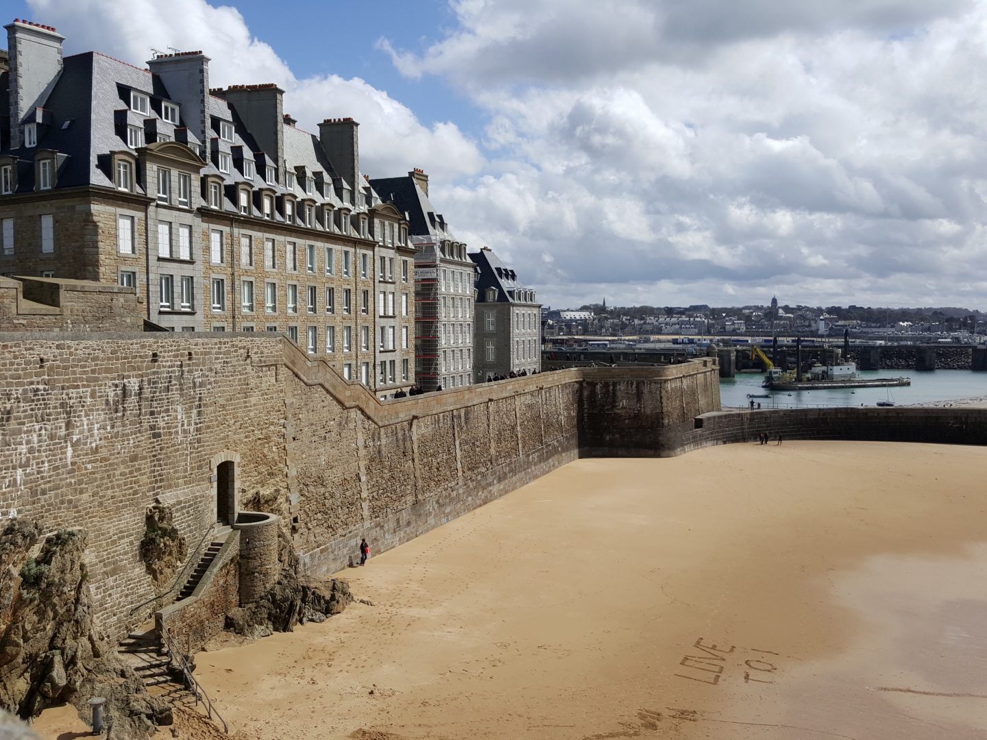 St Malo city walls, family city break