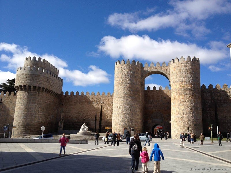 Avila city walls, walled cities, family city break