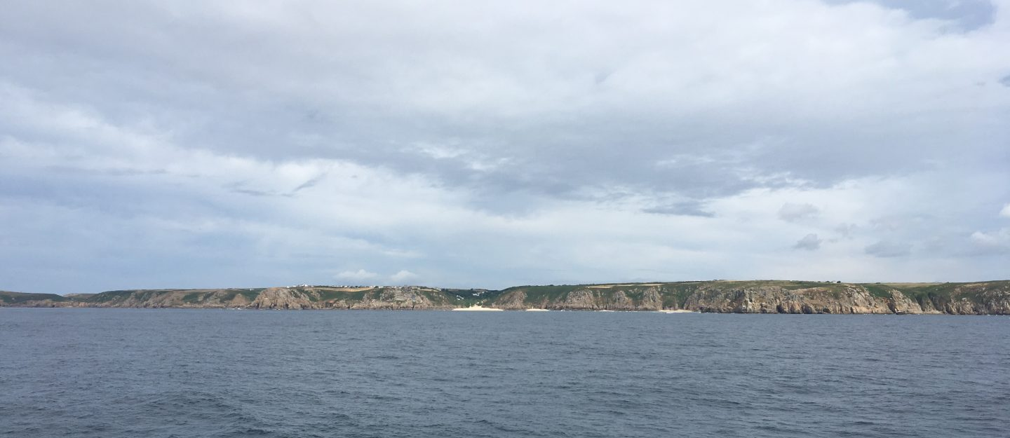 The Cornish coast viewed from the Scillonian ferry
