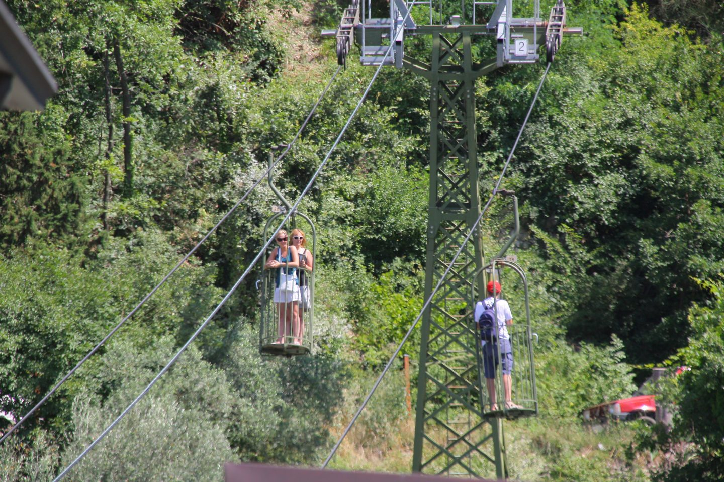 Cable cars in Gubbio Umbria Italy family holiday