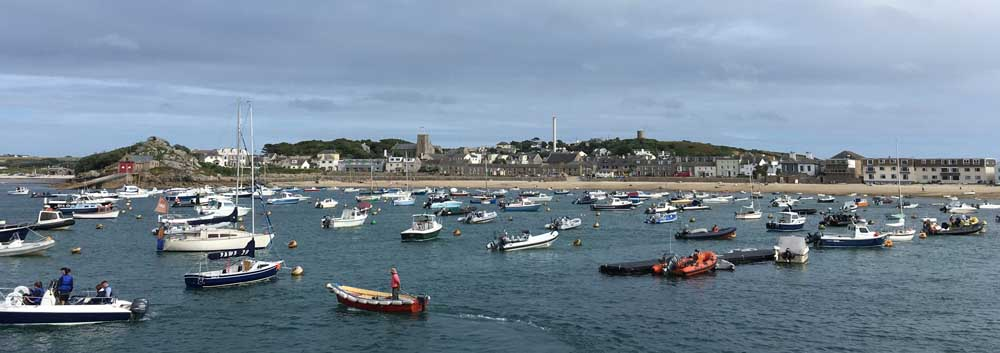 boats in harbour at St Marys, scilly isles