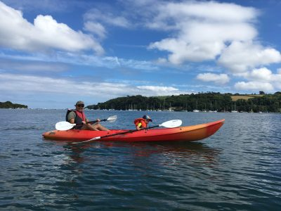 Kayaking on the Helford River Lizard Peninsula Cornwall