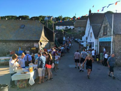 BBQ night at Cadgwith Cove Lizard Pninsula Cornwall