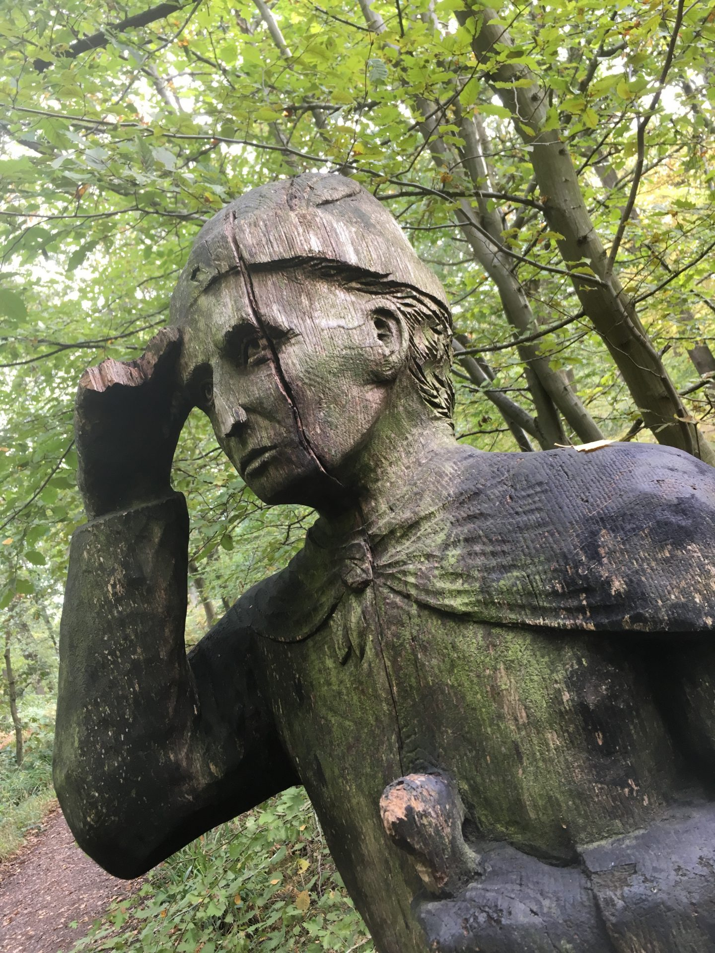 Herdsman searching for his cattle at Broxbourne Woods Sculpture Trail