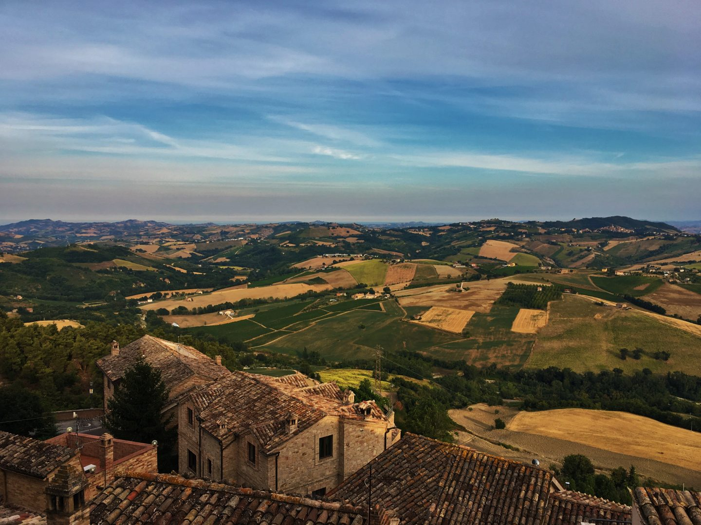 view from Montedinove le marche family holiday to italy, Italy driving holiday