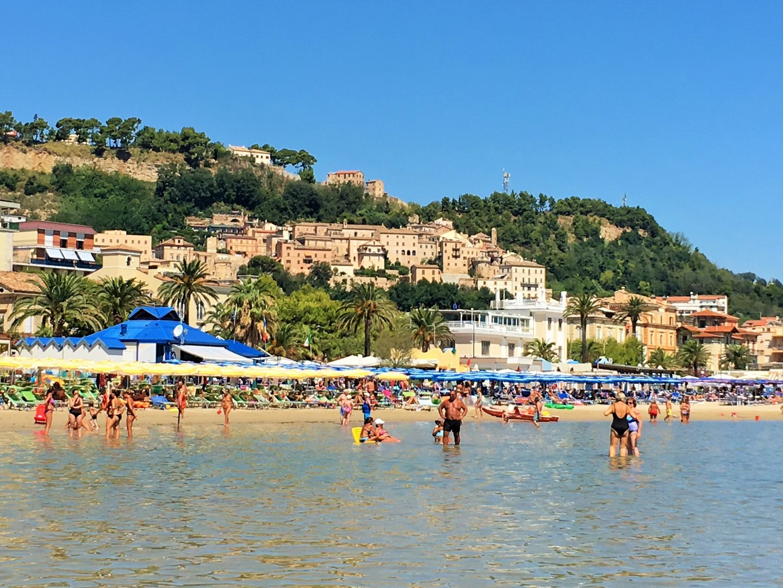Grottammare beach Adriatic Italy