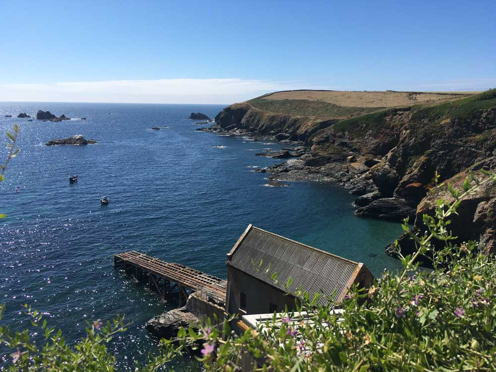 Looking towards the old life boat station at Lizard Point