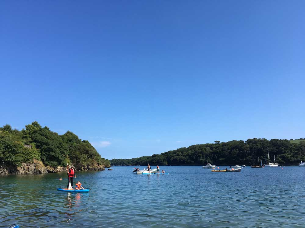 paddle boarding on the Helford River, Cornwall