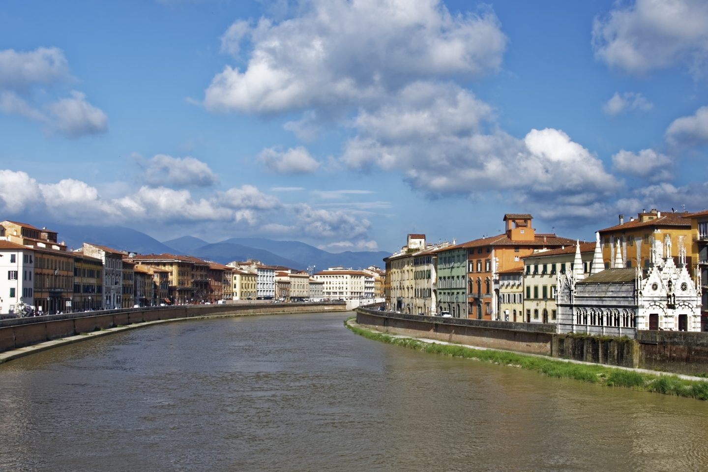 River Arno Pisa Italy family holiday to italy
