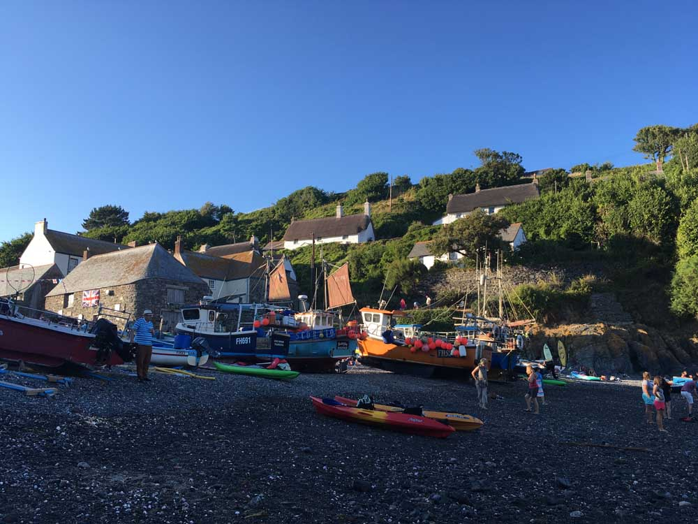 fishing boats at Cadgwith Cove, Cornwall