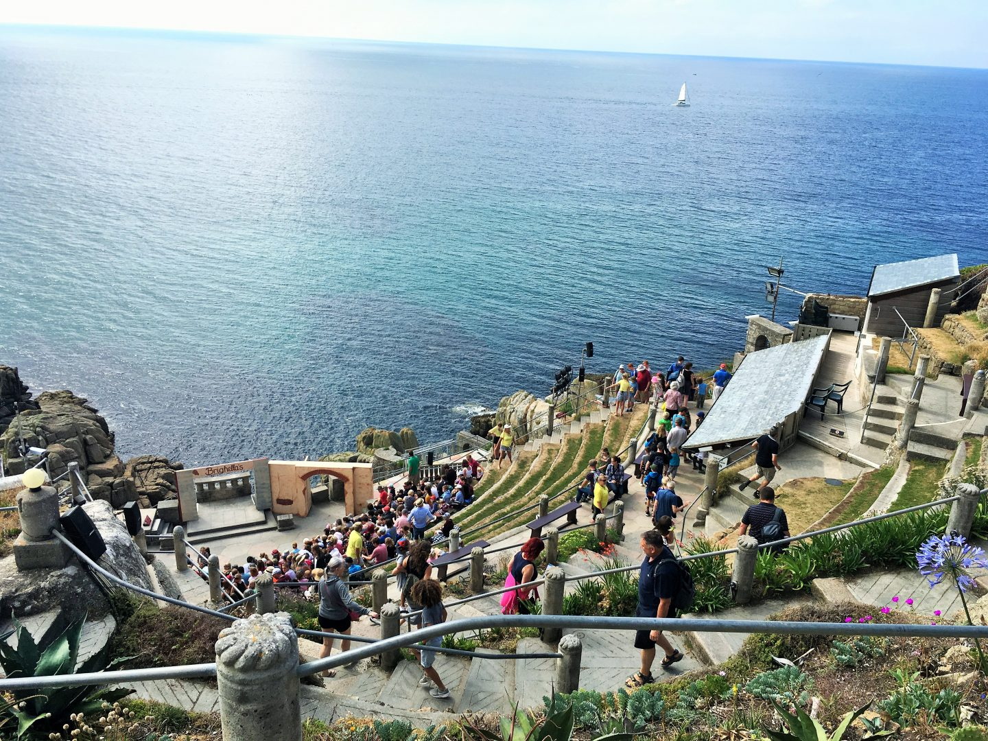 The mesmerising view of the Atlantic Ocean from the Minack Theatre, Cornwall outdoor theatre