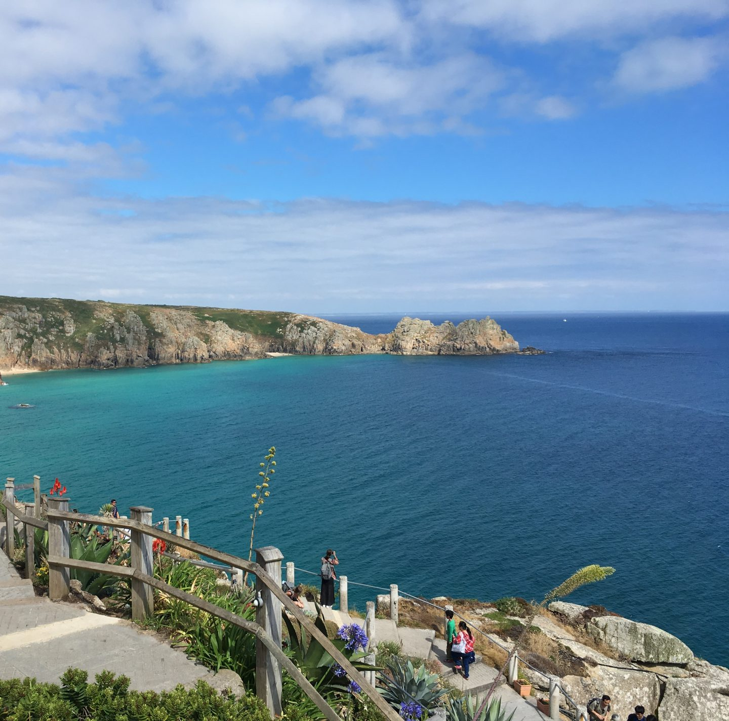 The coastline near Porthcurno viewed from the Minack Theatre, Cornwall