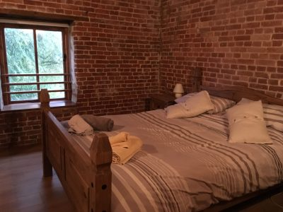 Double room at Hayloft cottage, Cannister Hall Barns, near Fakenham in North Norfolk