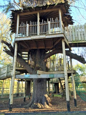 The adventure playground at Holkham Hall
