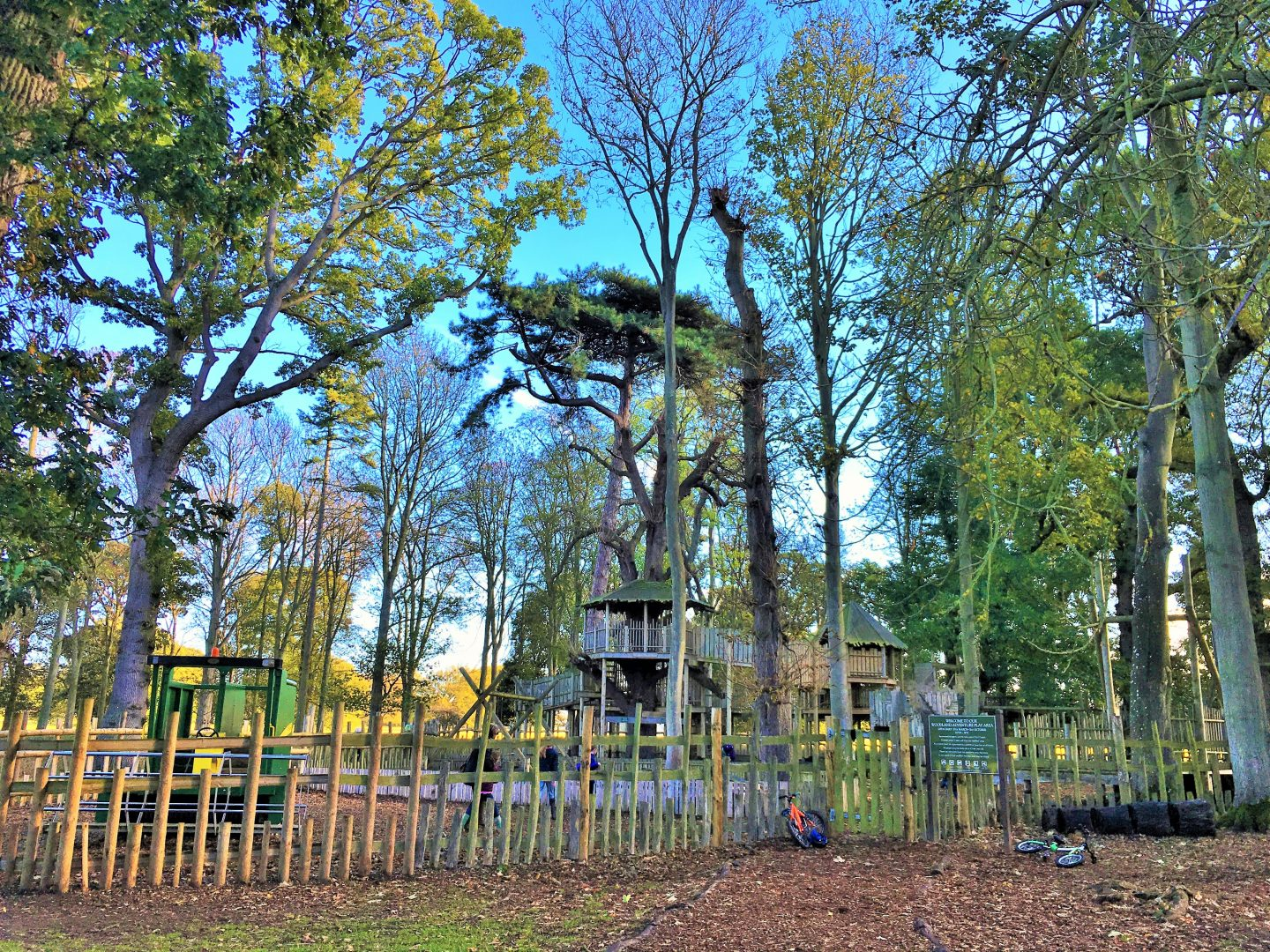 The adventure playground at Holkham Hall, North Norfolk short break
