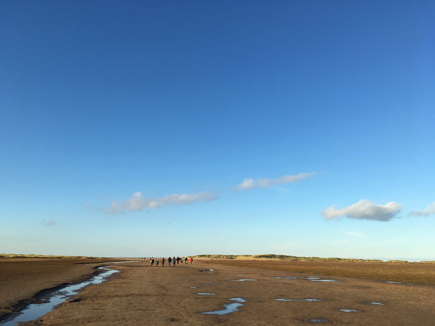 The beach at low tide, Holkham National Nature Reserve