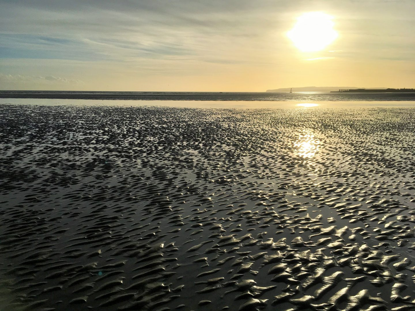 Sunset over Camber Sands, East Sussex