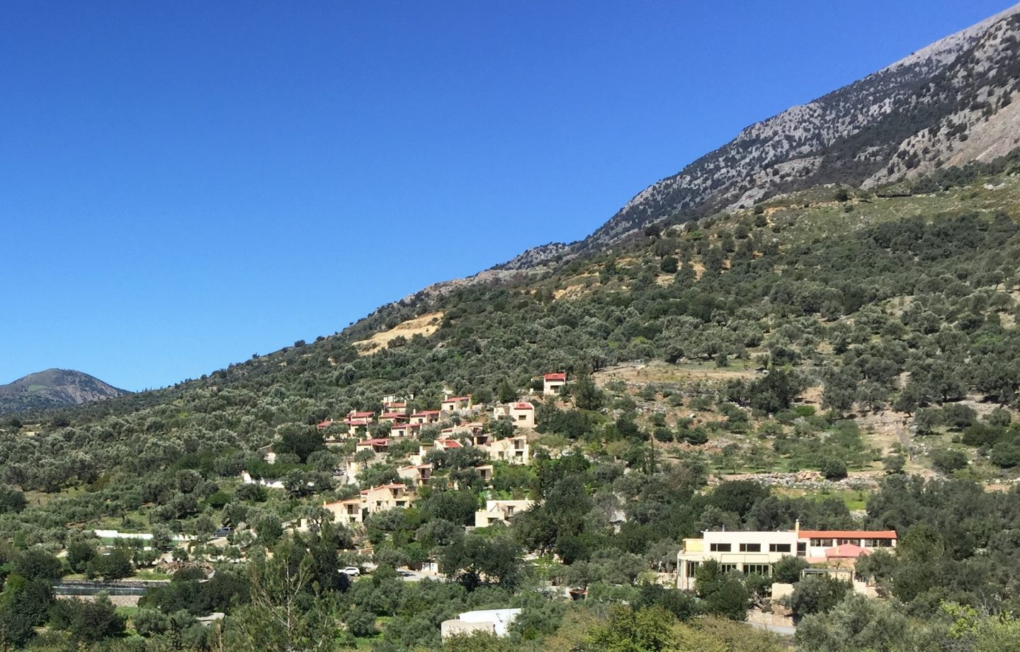 The cottages of Eleonas in the foothills of Mt Psiloritis, Crete