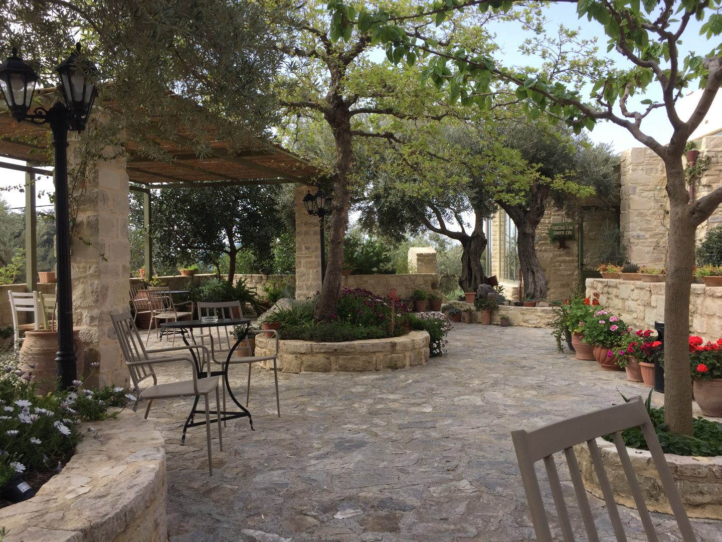 The courtyard at Eleonas Country Village