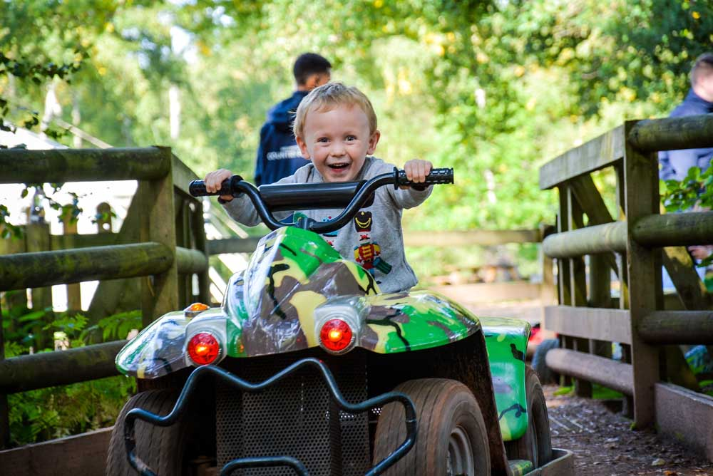 Child on quad bike at Wellington Country Park