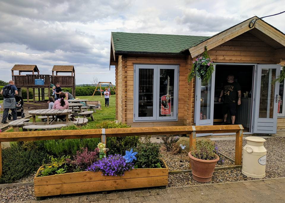 Sunnyhills farm shop, just off the A1 near Alnwick, credit Sam at NE Family Fun