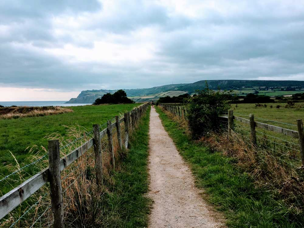 coastal pathway near Whitby yorkshire short break with kids