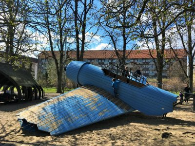 Plane crash play structure copenhagen denmark