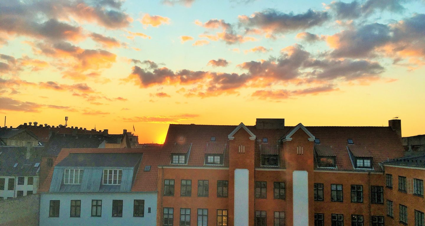 room with a view sunset copenhagen denmark